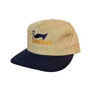 Vintage 90s Duxbak Canvas Snapback Hat Made in USA